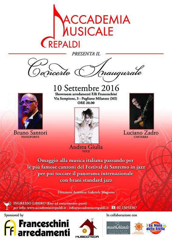 Accademia Musicale Crepaldi, concerto inaugurale