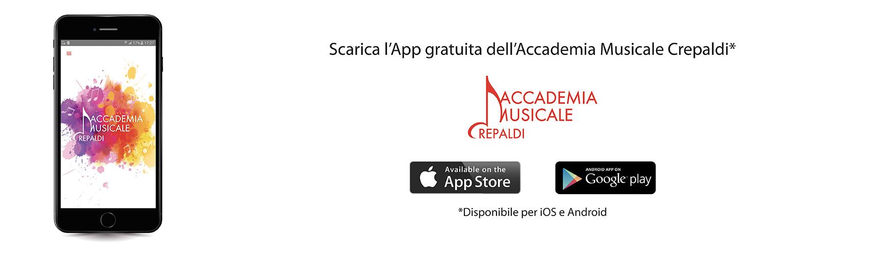 App iOS e Android Accademia Musicale Crepaldi