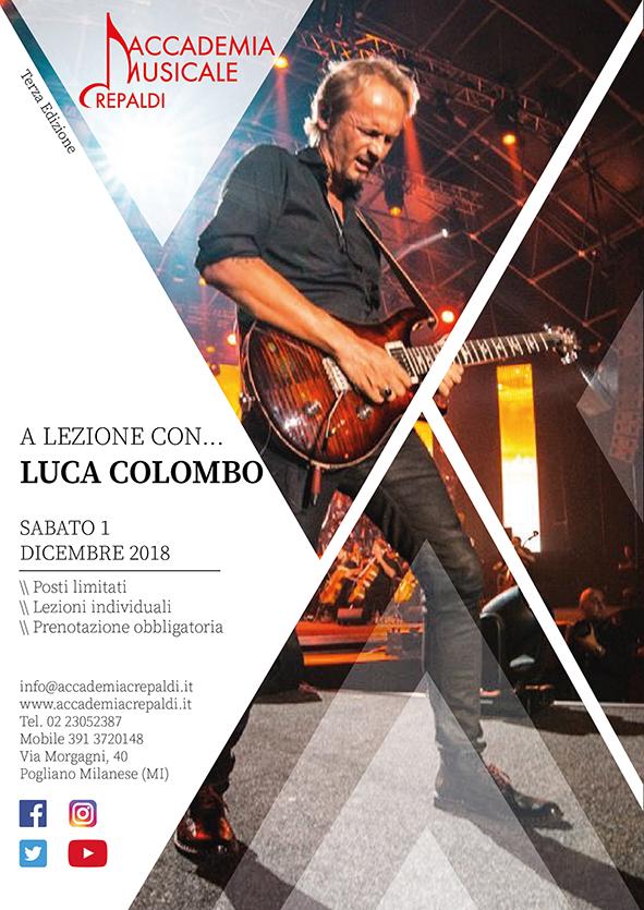 Luca Colombo all'Accademia Musicale Crepaldi