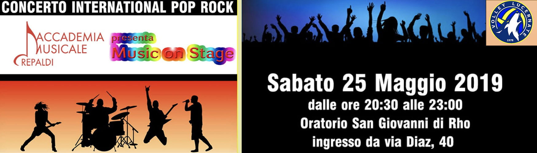 Accademia Musicale Crepaldi - Music on Stage per Volley Lucernate