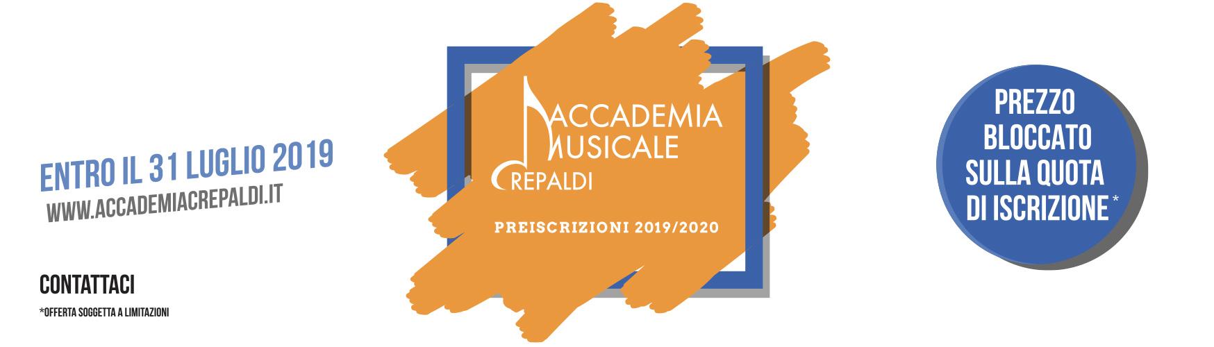 Preiscrizioni 19/20 - Accademia Musicale Crepaldi