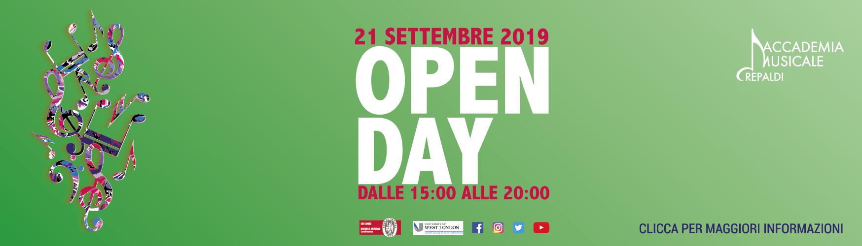 Accademia Musicale Crepaldi - OPEN DAY 2 2019/2020