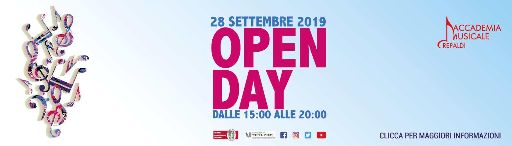Accademia Musicale Crepaldi - OPEN DAY 3 2019/2020