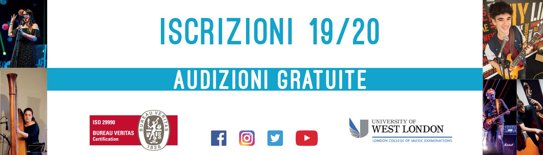 Accademia Musicale Crepaldi - Banner Iscrizioni 19/20