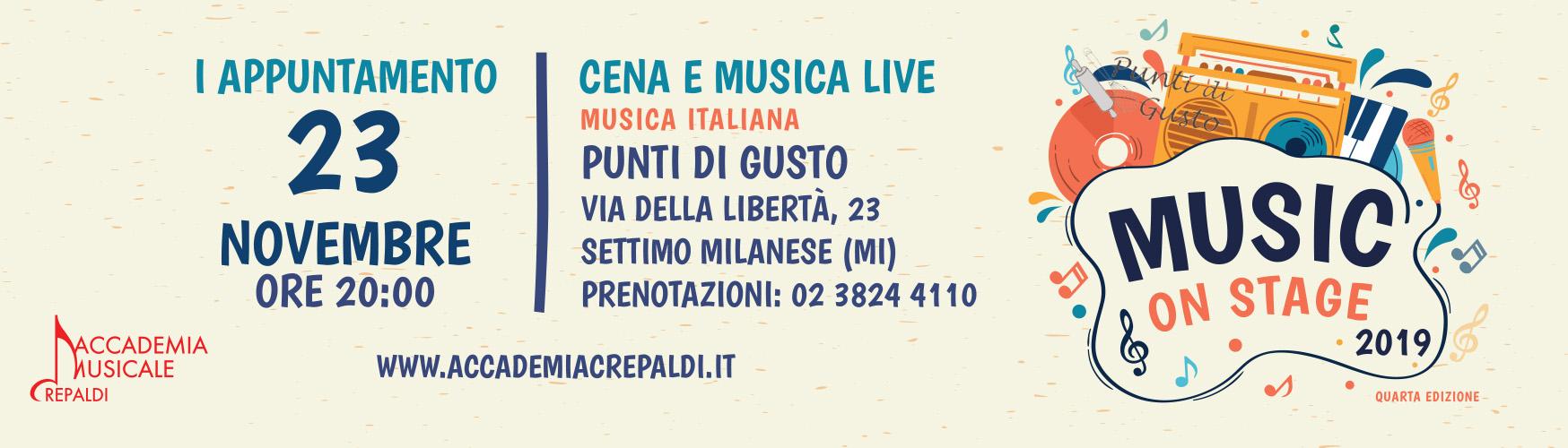 Music On Stage 2019/2020 Punti di Gusto, Settimo Milanese (MI) - Accademia Musicale Crepaldi
