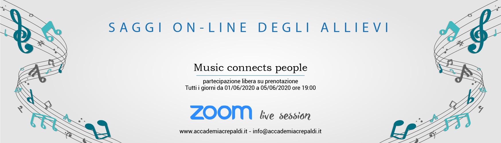 Saggi 19/20 on-line with Zoom - Accademia Musicale Crepaldi