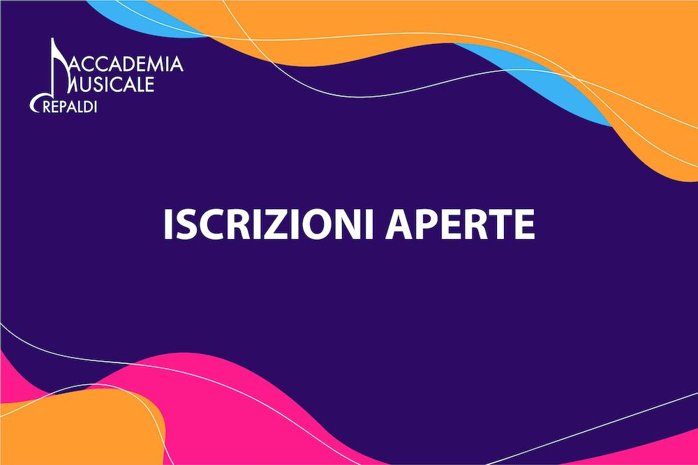 Iscrizioni 2021/2022 Accademia Musicale Crepaldi